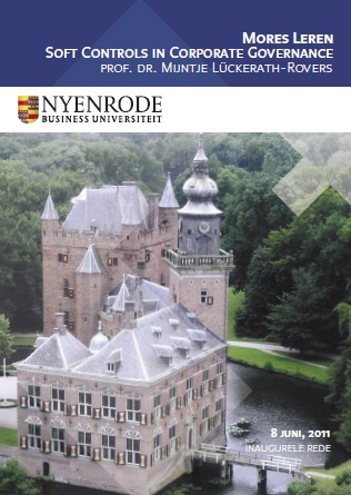 Plaatje bij Inaugurele Rede: Mores Leren. Soft Controls in Corporate Governance